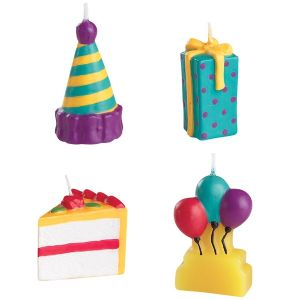 4-Piece Party Time Candle Set